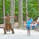 Native American Dancing Show Bow and Arrow