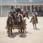 Western theme park outside Ocean City MD Stagecoach and horse